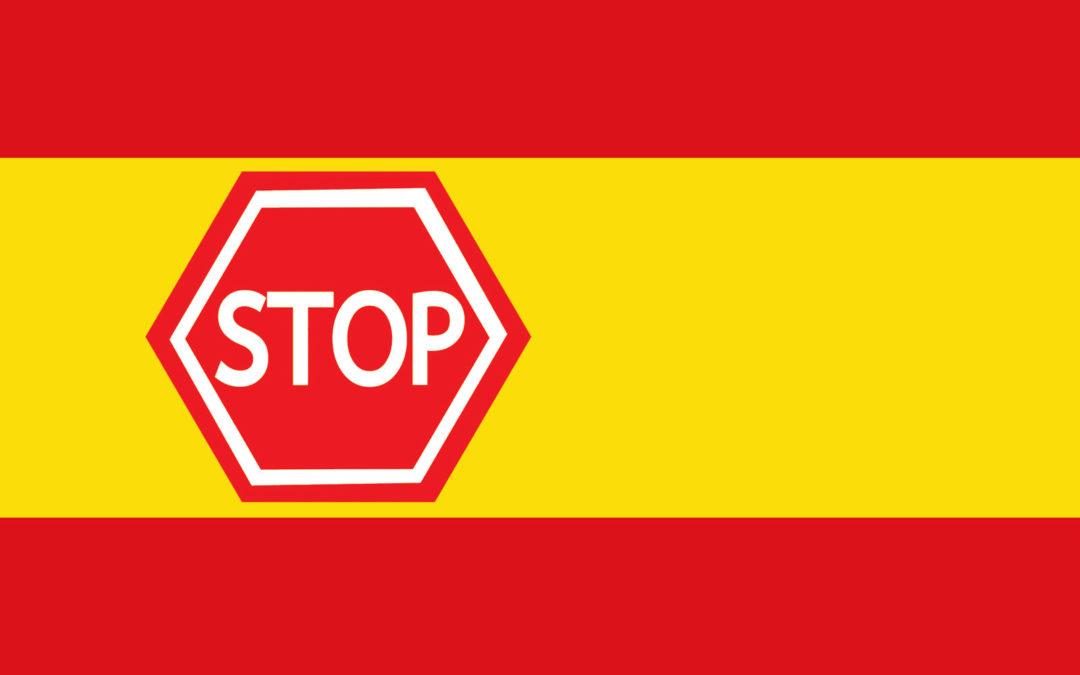 Corona stopper Spania